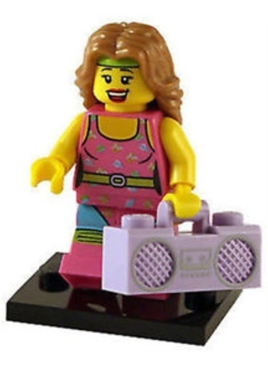 Lego Lego Minifigür - Seri 5 - 8805 - Fitness Instructor Renkli